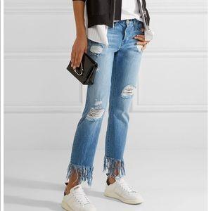 3x1 Stella distressed crop jeans NWOT